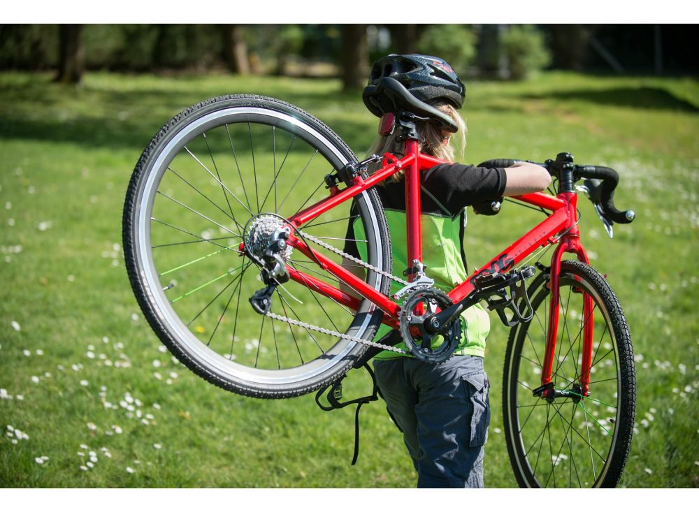 Frogbikes 67 cyclocross racefiets Rood lichtgewicht kinderfiets bij Stip-kinderfietsen,, frogbikes.be, frogbikes.de
