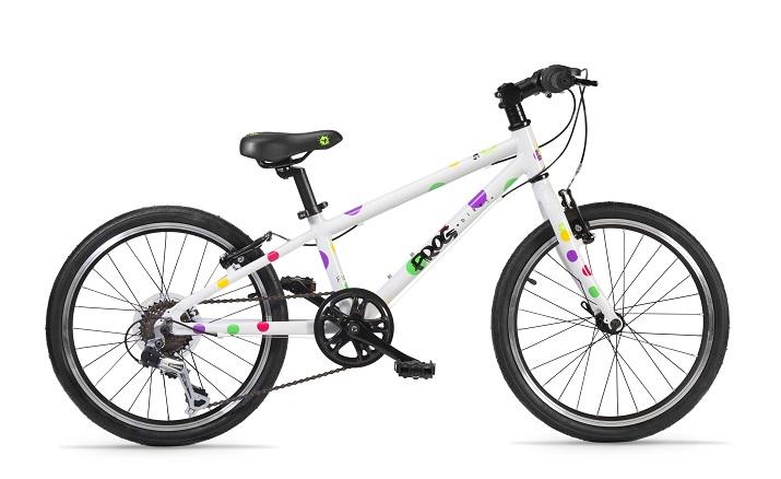Frog bikes 52, wit met nopjes bij stip-kinderfietsen in Nijmegen