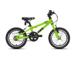 Frog bikes 43 groen 14 inch, frog bikes in Nijmegen, lichtgewicht kinderfiets 14 inch, kinderfiets kopen, Frog bikes bij Stip-kinderfietsen in Nijmegen