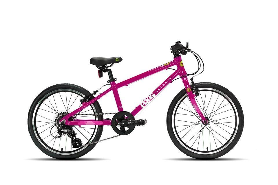Frogbike 55 roze kinderfiets 20 inch 8,9kg, lichtgewicht kinderfiets, Frog bikes Nederland, Frogbikes dealer, Frog bikes kinderfietsen, Frog bikes tweedehands, Frogbikes.be, Frogbikes.de