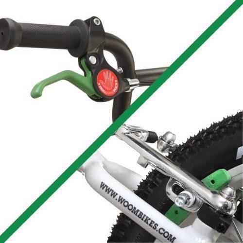 Woombikes Bremsen bei Stip-kinderfietsen Was sind die sichersten Bremsen für ein Kinderfahrrad? Im Notfall reagieren die Hände schneller