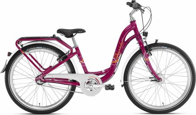 Puky skyride 24-3 ALU light City roze, lichtgewicht kinderfiets bij stip-kinderfietsen