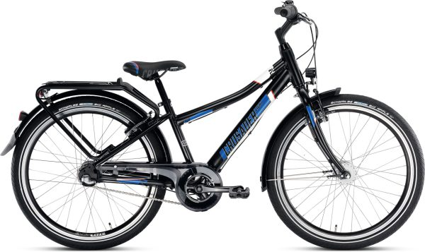 Puky Crusader bij stip-kinderfietsen 24-3 lichtgewicht zwart, 13,5kg, lichtgewicht jongensfiets bij Stip-kinderfietsen, magasin de vélo pour enfants, kinderfietsenwinkel, Fahrradladen für Kinder