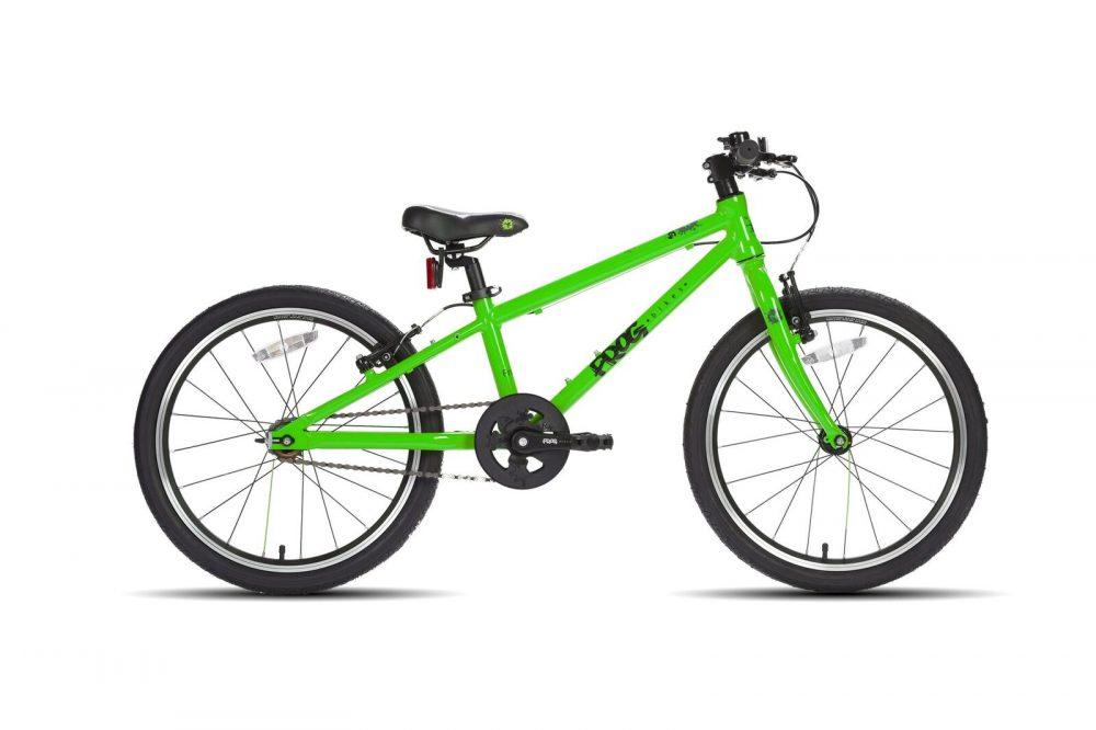 Frog bikes 52 Groen lichtgewicht kinderfiets, 7,8kg, stip-kinderfietsen voorr Belgie, Frogbikes.de, Frogbikes.be, lichtgewicht kinderfiets bij Stip-kinderfietsen, aluminium kinderfiets.