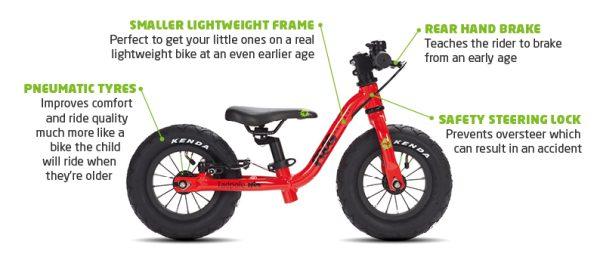 Frog bike Laufrad bei Stip-kinderfietsen. Neu von Frogbikes Mini-10-Zoll Laufräder