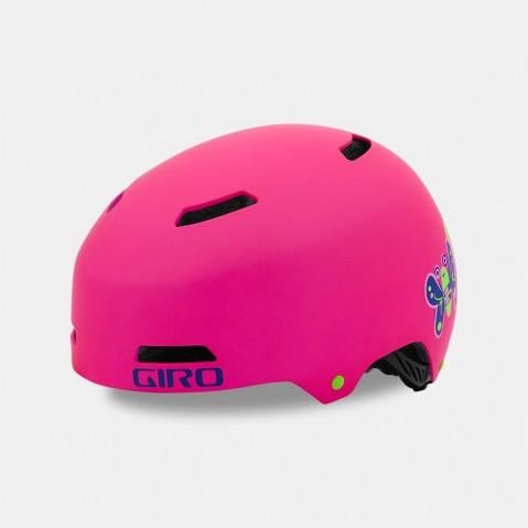 Girohelm bij Stip-kinderfietsen. Giro Helm Dime FS Mat roze XS, hoofdomtrek 47-51cm, veilige helm, magasin de vélo pour enfants, kinderfietsenwinkel, Fahrradladen für Kinder