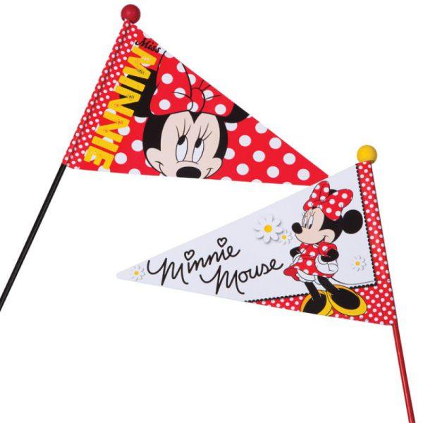 Fietsvlag bij Stip-kinderfietsen, Fietsvlag Minnie Mouse, magasin de vélo pour enfants, kinderfietsenwinkel, Fahrradladen für Kinder