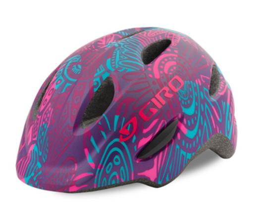 Giro fietshelm scamp MIPS purple blossom maat s en xs, Giro fietshelm MIPS, de veiligste fietshelm, de beste fietshelm