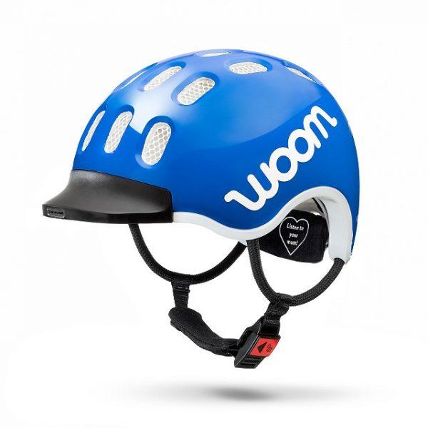 Woomhelm bij Stip-kinderfietsen, Woom fietshelm 52-56 cm (M) blauw 3-6 jaar, lichtgewicht kinderfiets, magasin de vélo pour enfants, kinderfietsenwinkel, Fahrradladen für Kinder