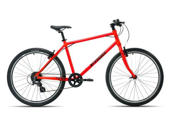 Frog bikes 78 rood lichtgewicht kinderfiets 26 inch, frogbike bij Stip-kinderfietsen, magasin de vélo pour enfants, kinderfietsenwinkel