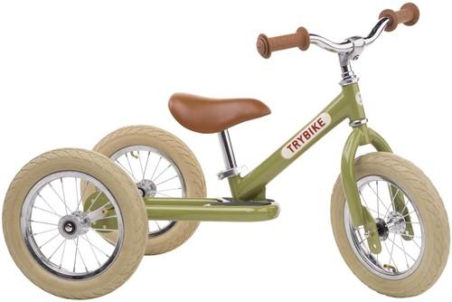 Trybike Balance Fahrrad Stahl Dreirad Vintage grün.