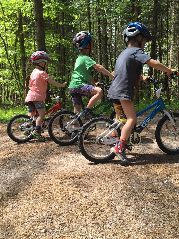 What is a great cycling position on a children's bicycle?