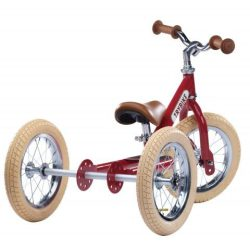 Trybike balance bike acier tricycle vintage rouge