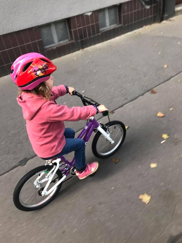 Niet meteen leren fietsen op de proefrit.