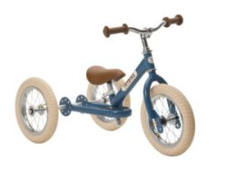 Trybike loopfiets staal driewieler blauw bij Stip-kinderfietsen