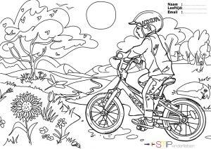 Kleurplaat Stip Kinderfietsen